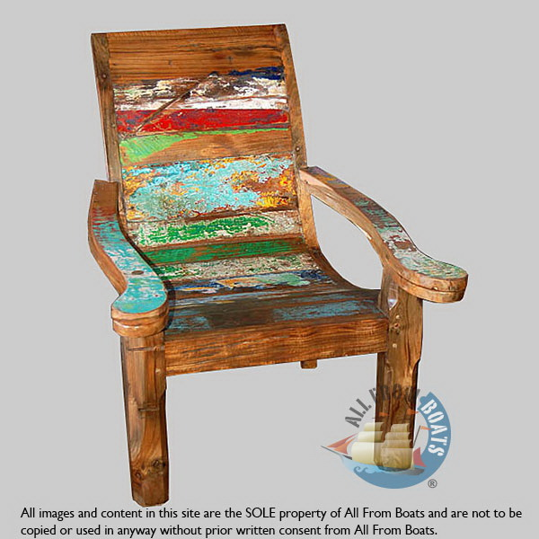 boat wood colonial chair 2