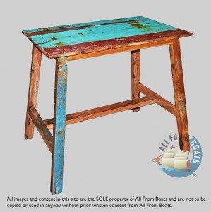 boat wood martin bar table