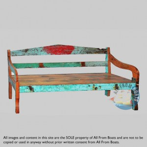 sofa benches out of boatwood