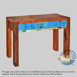console table out of boatwood