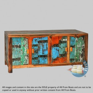 boat wood sideboard