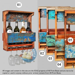wine racks out of boatwood