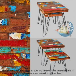 side tables out of boatwood
