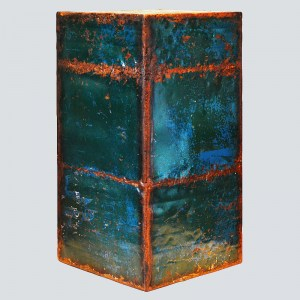 rust_art_gallery_abstract_art_podest-blue_green_rust_ke87661